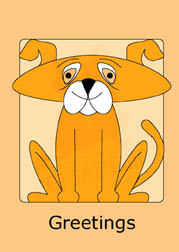 Cute Doggy in orange boxed note cards. 4 different colors included. 20 blank cards | 20 envelopes. Item#: CDNC-GC080
