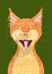 Digital art poster: Sebastian the orange Tabby cat