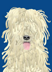 Reggae Reggie, the Komondor dog wall art. Item#: DRRK-P302